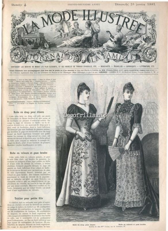 Nostalgische Poster A4 - La Mode Illustree 1891A