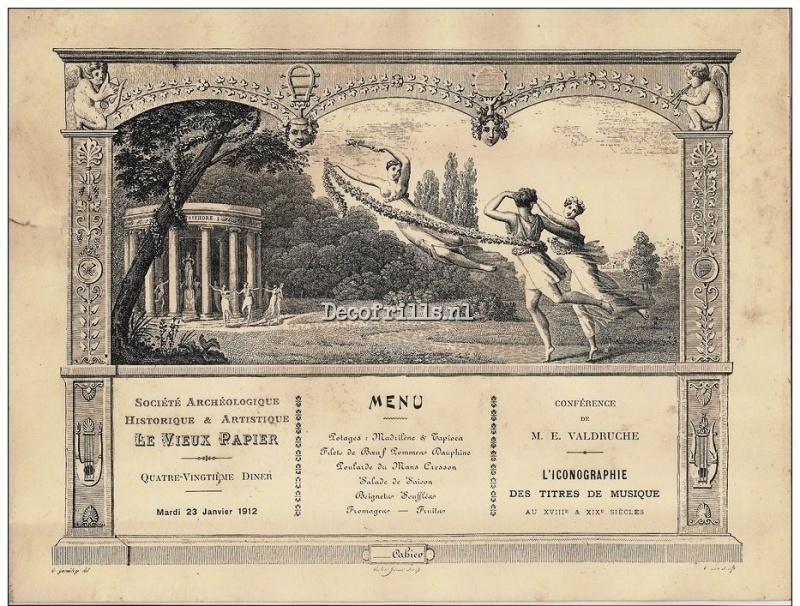 Nostalgische Poster A4 - Frans Menu uit 1912