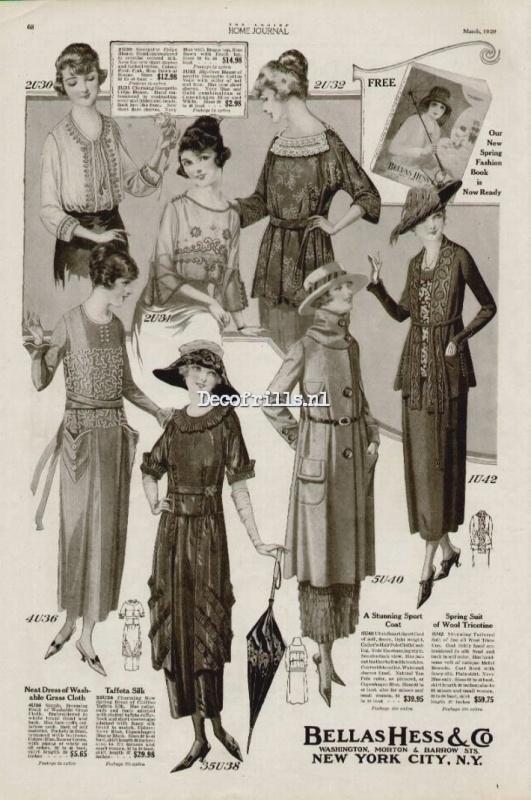 Nostalgische Poster A4 - Dresses