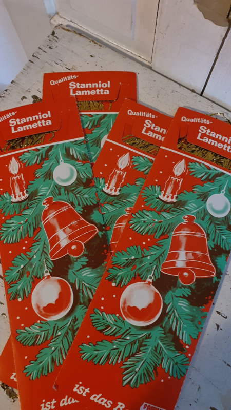 Oude verpakking Stanniol EIS-LAMETTA Goud