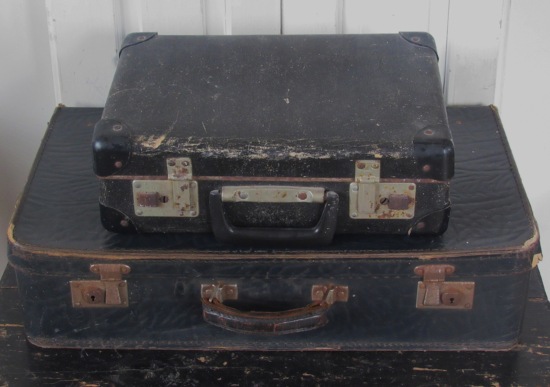 Oude Koffer Kist.Oude Antieke Koffer Zwart Prachtig Sleets Kisten
