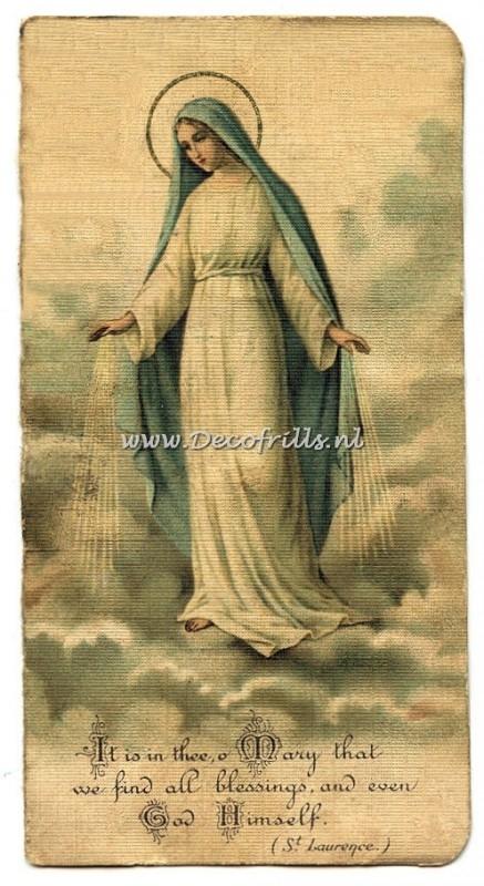 Maria prentje met tekst