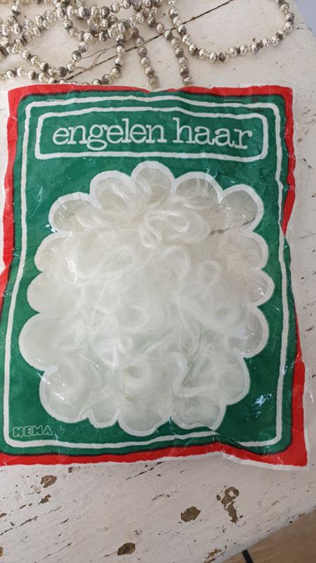 Oud/Vintage zakje gekruld ENGELENHAAR van de HEMA