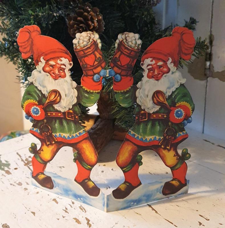 Oude Kerst Elfjes. Uit Zweden. Ca. 1950-1960