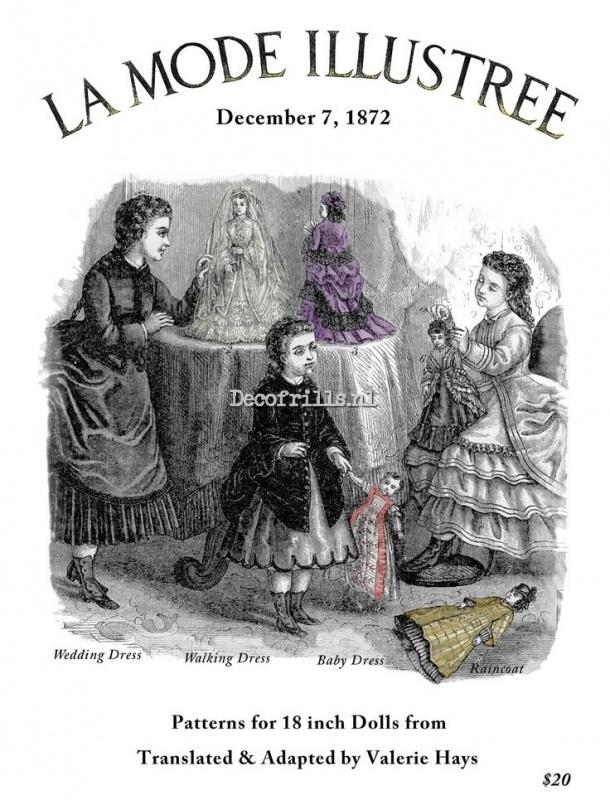 Nostalgische poster A4 - La mode Illustree Patterns for Dolls 1872