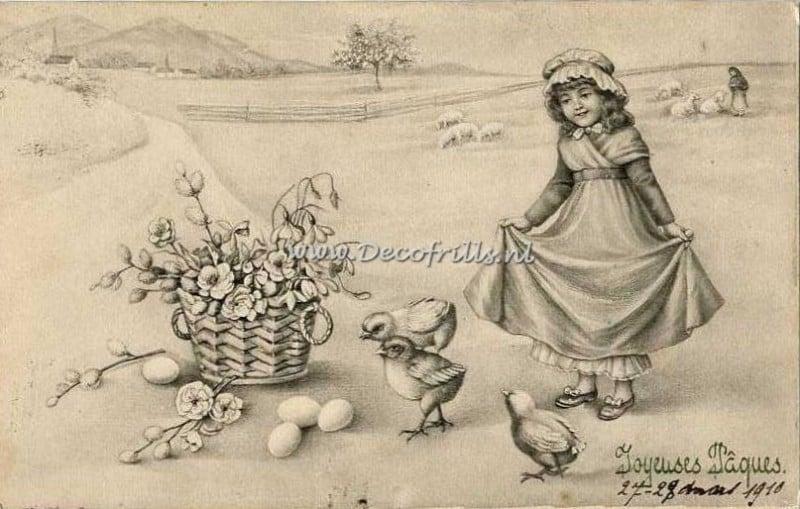 Paaskaart - Easter postcard 38