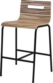 Barstoel Oscar HS370 lage rug ronde buis 62cm hoog