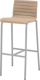 Barstoel Oscar HS420 gestoffeerd, lage rug vierkante buis 82cm hoog