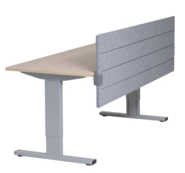 Akoestisch paneel 32mm of 64mm dik, t.b.v. montage aan tafelblad 60cm hoog. Bladklem A. Div. maten. Instelbaar.