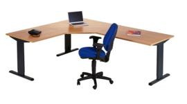 Bureau Toro CAD-Hoekbureau 80x80 - 120x120 - 120x80cm Links of Rechts