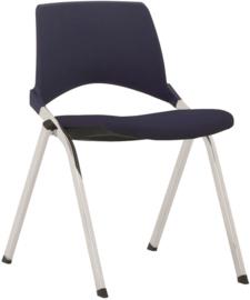 Kerkstoel / zaalstoel S140-30 met gestoffeerde zitting - 4-POOTS