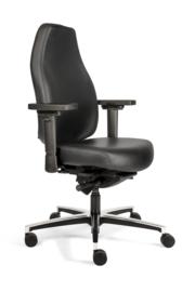 Therapod X zwart leder professionele bureaustoel