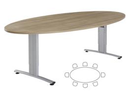 Huislijn Basic vergadertafel ellipsvorm 240 x 120cm
