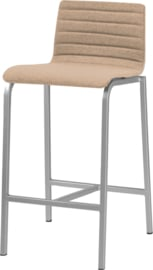 Barstoel Oscar HS365 gestoffeerd, lage rug vierkante buis 62cm hoog
