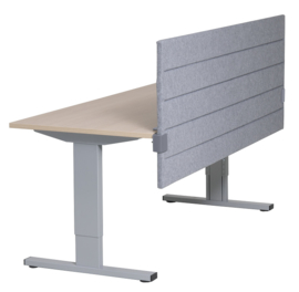 Akoestisch paneel 32mm of 62mm dik, t.b.v. montage aan tafelblad 80cm hoog. Div. maten. Instelbaar