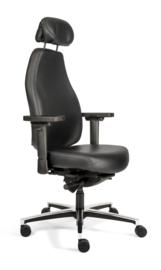 Therapod X HR zwart leder professionele bureaustoel