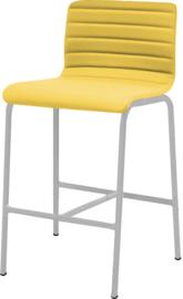 Barstoel Oscar HS370 met gestoffeerd, lage rug ronde buis 62cm hoog
