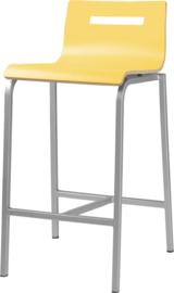 Barstoel Oscar HS365 lage rug vierkante buis 62cm hoog