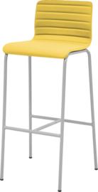 Barstoel Oscar HS410 met gestoffeerd, lage rug ronde buis 82cm hoog