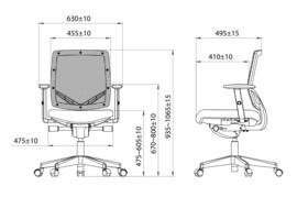 NICE Netwave thuisgebruik bureaustoel