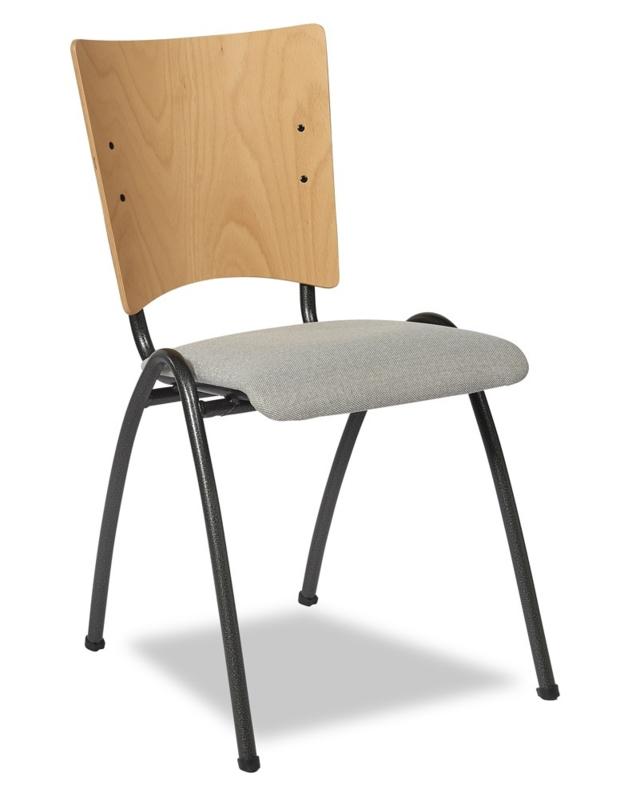 Kerkstoel / zaalstoel Elegance 5514 / Style 5514 gestoffeerde zitting