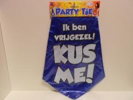 Party tie  Ik ben vrijgezel kus me!