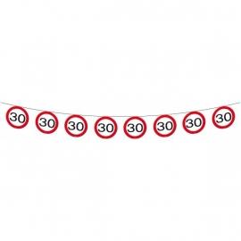 Vlaggenlijn Verkeersbord 30 jaar 12m