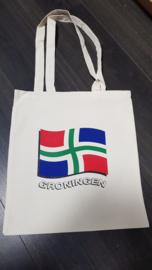 Katoenen draagtas vlag Groningen