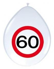 Ballon verkeersbord 60 8 stuks