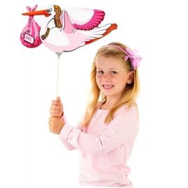 Mini folieballon Ooievaar meisje