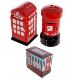Londense brievenbus en telefooncel
