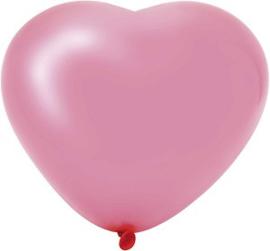 Hartballonnen roze 6 stuks