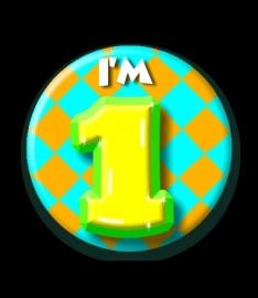 Leeftijd buttons  (diameter 5,5 cm)