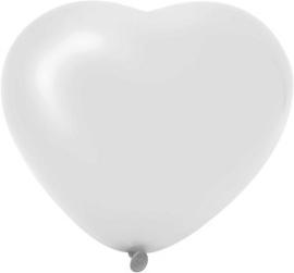 Hartballonnen wit 6 stuks