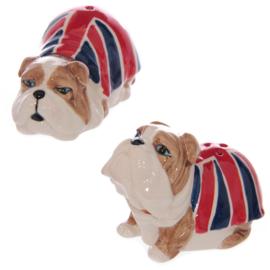 Peper en zoutstel Britse vlag bulldog
