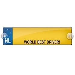 WORLD BEST DRIVER! (Breedte 7 cm Lengte 26 cm)