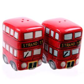 Peper en zoutstel dubbeldekker  bus