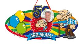 Deurbord Abraham 50 jaar.