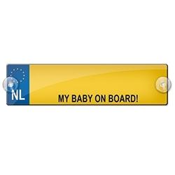 MY BABY ON BOARD! (Breedte 7 cm Lengte 26 cm)