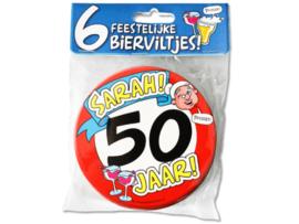 Bierviltjes Sarah 50 jaar