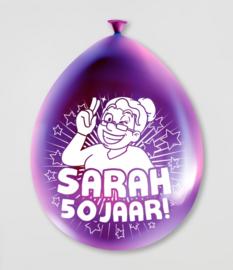 Party Ballonnen- Sarah 50 jaar