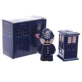 Peper en zoutstel politieman en box