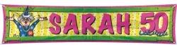 Straatbanier Sarah horizontaal 40x180cm