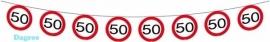 Vlaggenlijn Verkeersbord 50 jaar 12m
