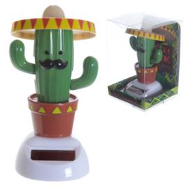 Cactus met sombrero solar pal
