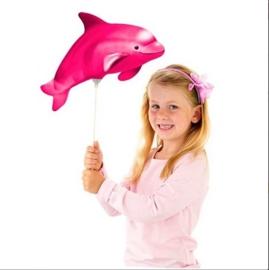 Mini folieballon Dolfijn roze