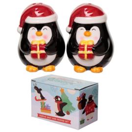 Kerstmis pinguïn peper en zoutstel