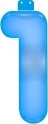 Funtext opblaascijfer blauw en roze