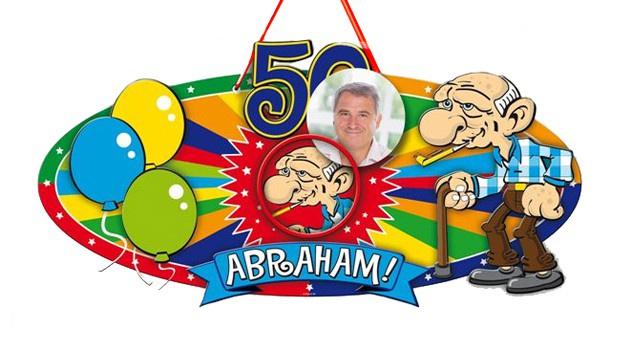 Fonkelnieuw Deurbord Abraham 50 jaar. | Abraham en Sarah artikelen TV-63