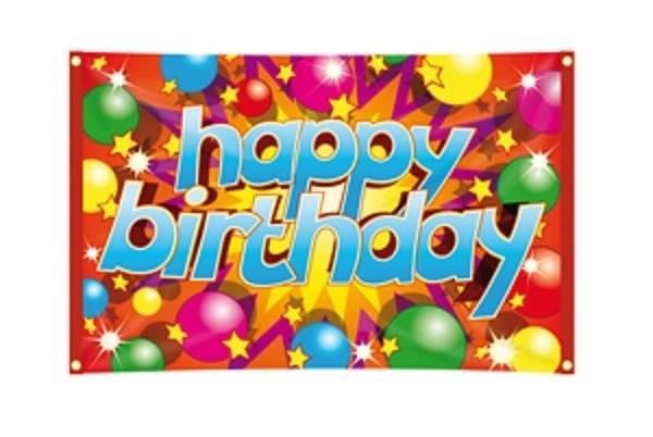 Gevelvlag Happy Birthday 90x60cm